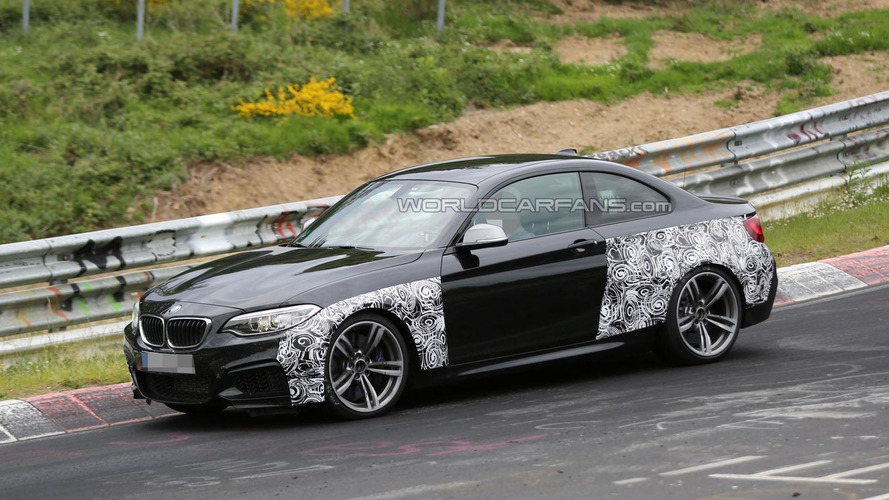 2016 BMW M2 spied on the Nurburgring