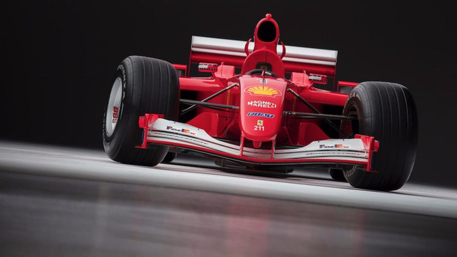 El Ferrari F2001 de Schumacher, subastado por una cifra astronómica