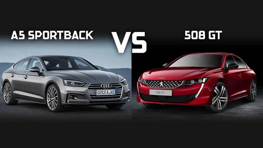 La nouvelle Peugeot 508 se frotte à l'Audi A5 Sportback