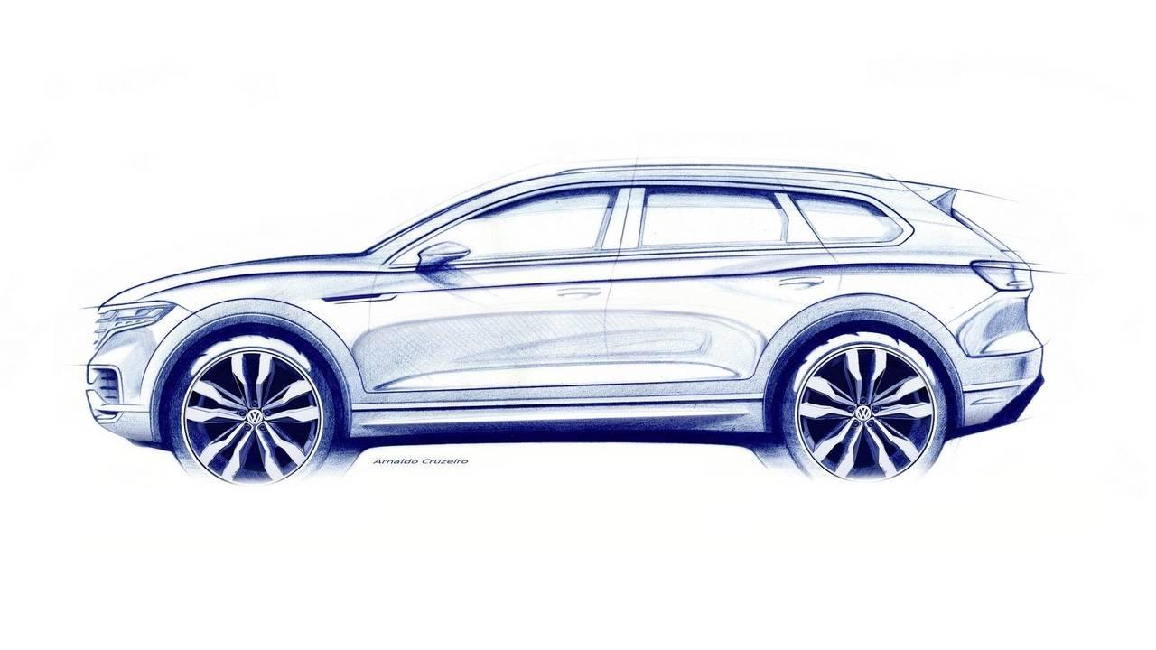 Yeni VW Touareg İpucu Görselleri