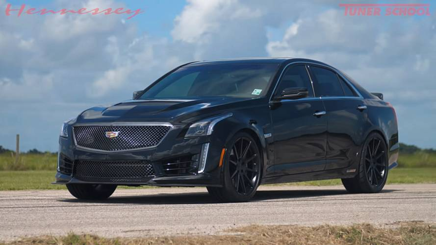 Watch Hennessey's Mental 1,000-HP Cadillac CTS-V In Action