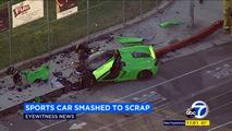 Accident d'une McLaren 650S Spider à Los Angeles