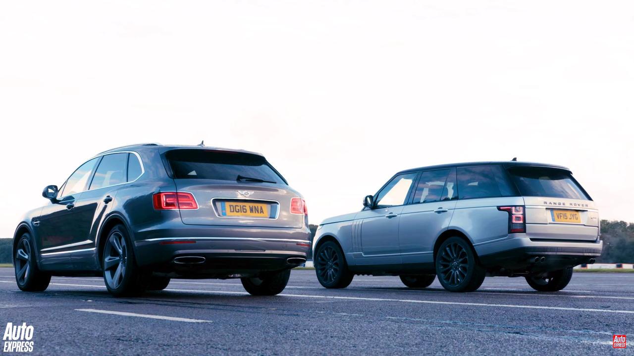 Bentley Bentayga races Land Rover Range Rover