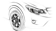 Subaru XV Frankfurt teaser sketch 10.08.2011