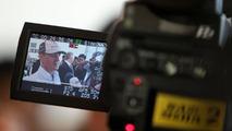 Michael Schumacher (GER), Mercedes GP Petronas does tv interviews, Bahrain Grand Prix, 11.03.2010 Sakhir, Bahrain