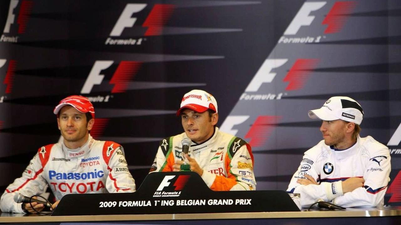 Jarno Trulli (ITA), Giancarlo Fisichella (ITA), Nick Heidfeld (GER), Belgian Grand Prix, Saturday Press Conference, Francorchamps, Belgium 29.08.2009