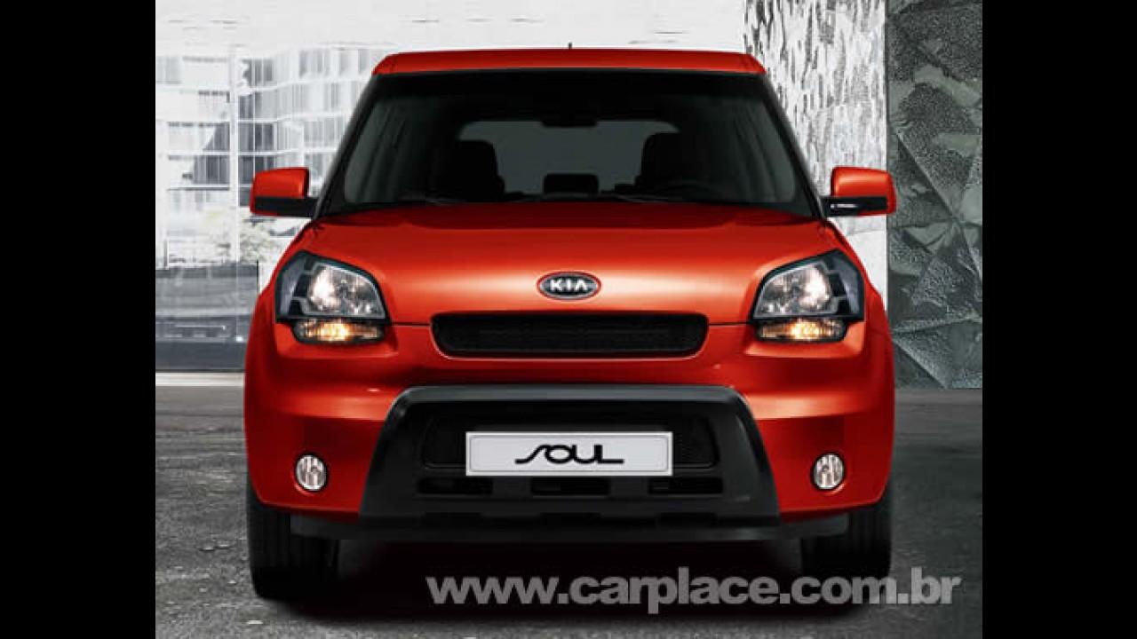 Kia Soul 2009 - Kia divulga novas fotos e dados do futuro concorrente do Novo Fit