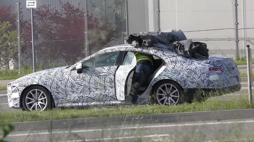 2018 Mercedes CLS Covered After Prototype Breaks Down On The Road