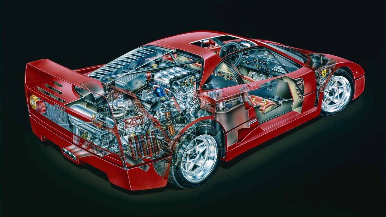 Ferrari F40 Prototype cutout by David Kimble