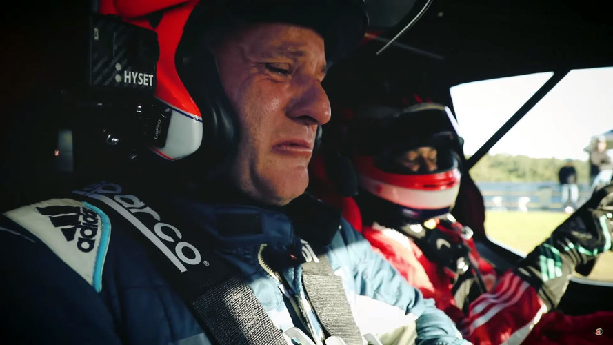 Rubens Barrichello Brought To Tears Riding Shotgun With Son