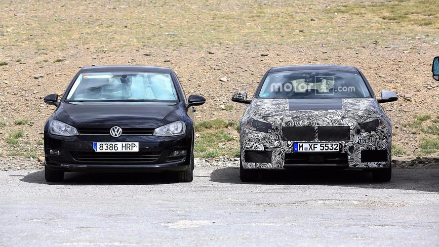 BMW 1 Serisi - Volkswagen Golf'lü casus fotoğrafları