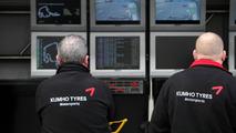 Kumho engineers on the pit wall, F3 Euro Series 2009 at Hockenheimring, 16.05.2009 Hockenheim, Germany