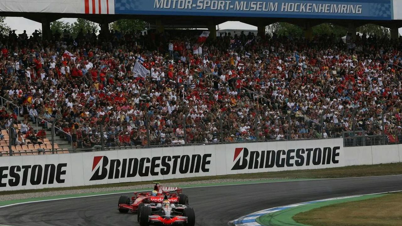 Lewis Hamilton (GBR) and Felipe Massa (BRA), German Grand Prix, Hockenheim, Germany, 20.07.2008