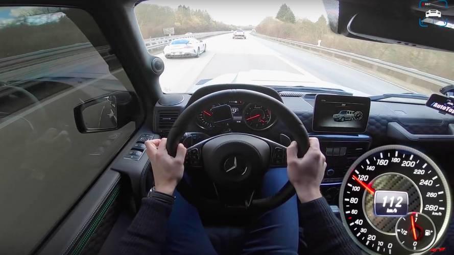 1,000 bg'lik Mercedes-AMG G63 ve AMG GT R'ın otoban kapışması