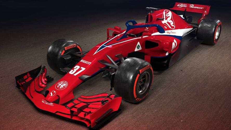 Alfa Romeo Sauber F1 car render