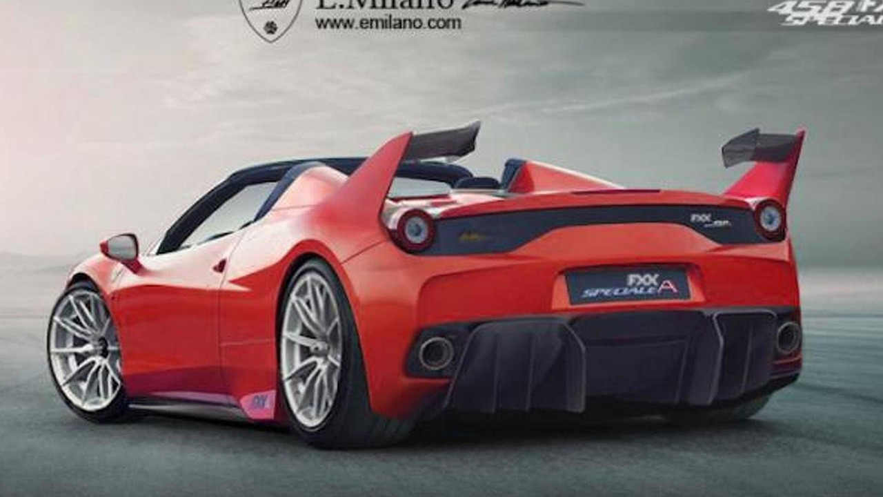 Ferrari 458 FXX Speciale A rendering / Evren Milano