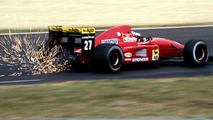 Formula One cars shooting and spraying sparks in the 80s / status-cars.com