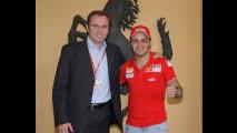 Primo giorno di Felipe a Maranello