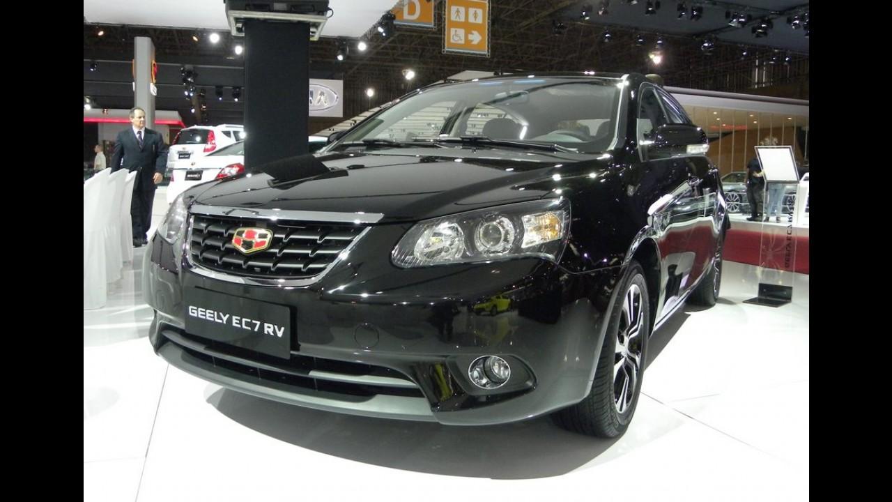 Salão SP: Geely estuda fábrica no Brasil; EC7 hatch e SUV EX7 chegam em 2015 - fotos