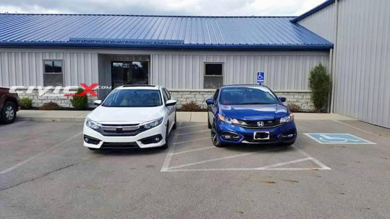 Lado a lado: Novo Honda Civic 2016 é clicado junto do modelo antigo