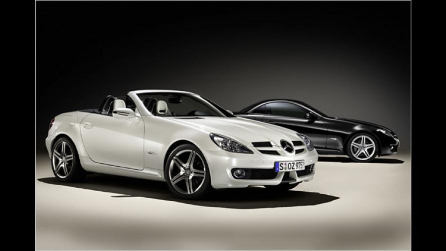 Mercedes-Benz: Schwarz-weißer Sonder-SLK in Genf
