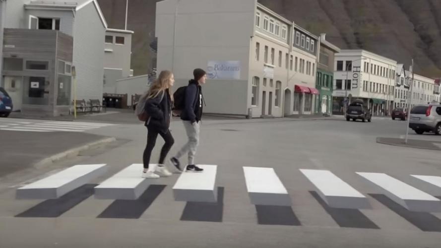 Des passages piétons en 3D pour améliorer la sécurité