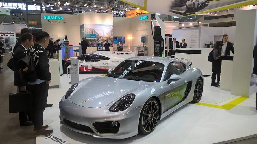 Porsche Cayman e-volution electric concept paves the way for the future