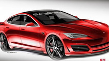 Tesla Model S by Saleen design sketch
