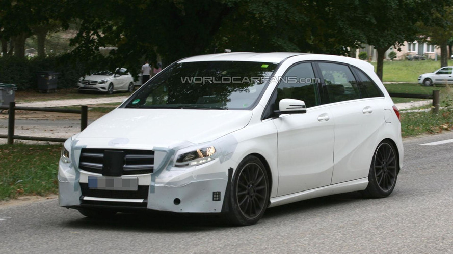 Mercedes B-Class facelift spied for the first time