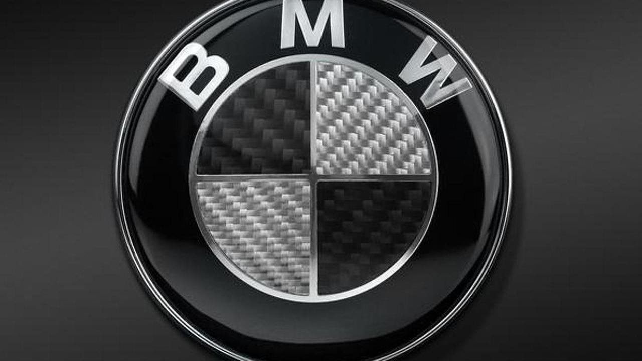 BMW carbon fiber badge