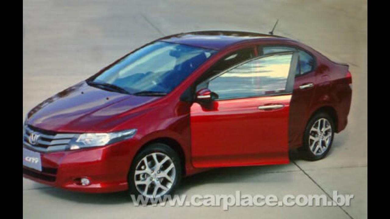 Novo Honda City - Novas fotos revelam detalhes do novo sedan derivado do Fit