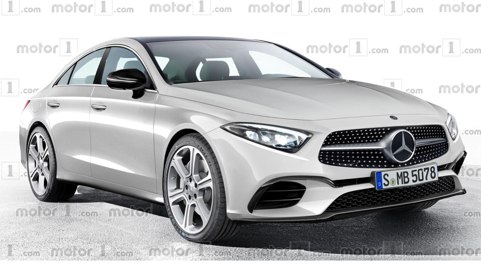 2018 mercedes cls rendering previews evolutionary design. Black Bedroom Furniture Sets. Home Design Ideas