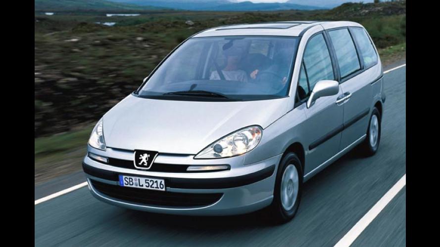 Peugeot 807: Familien-Van mit mehr Auswahlmöglichkeiten