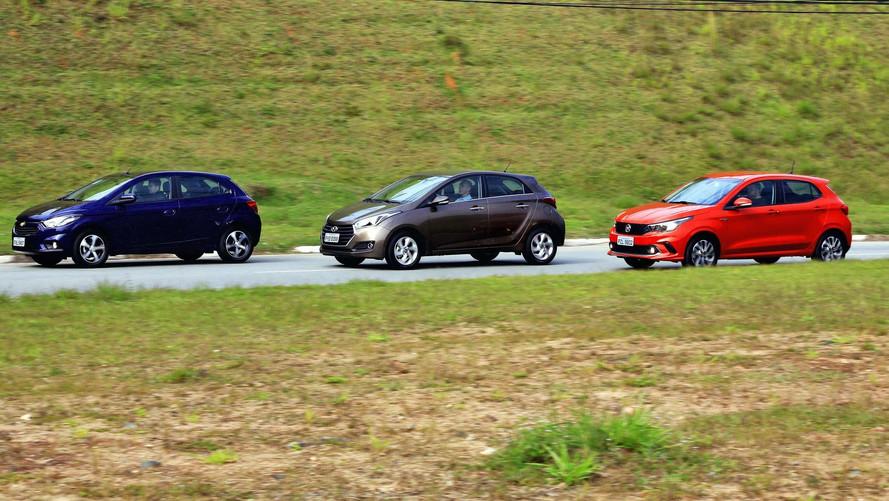 Comparativo Fiat Argo x Hyundai HB20 x Chevrolet Onix - Siga o líder