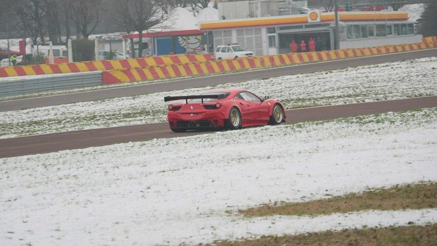 Ferrari 458 GT2 racer testing at Fiorano