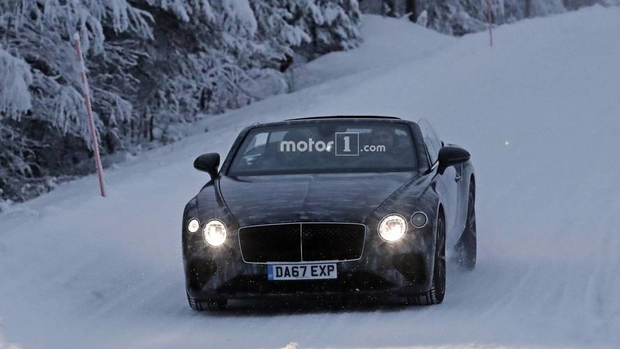 Bentley Continental GTC 2018 spy photos