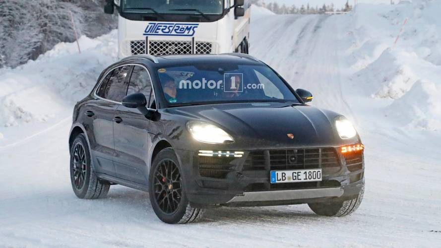 2018 Porsche Macan Spy Photos Snow