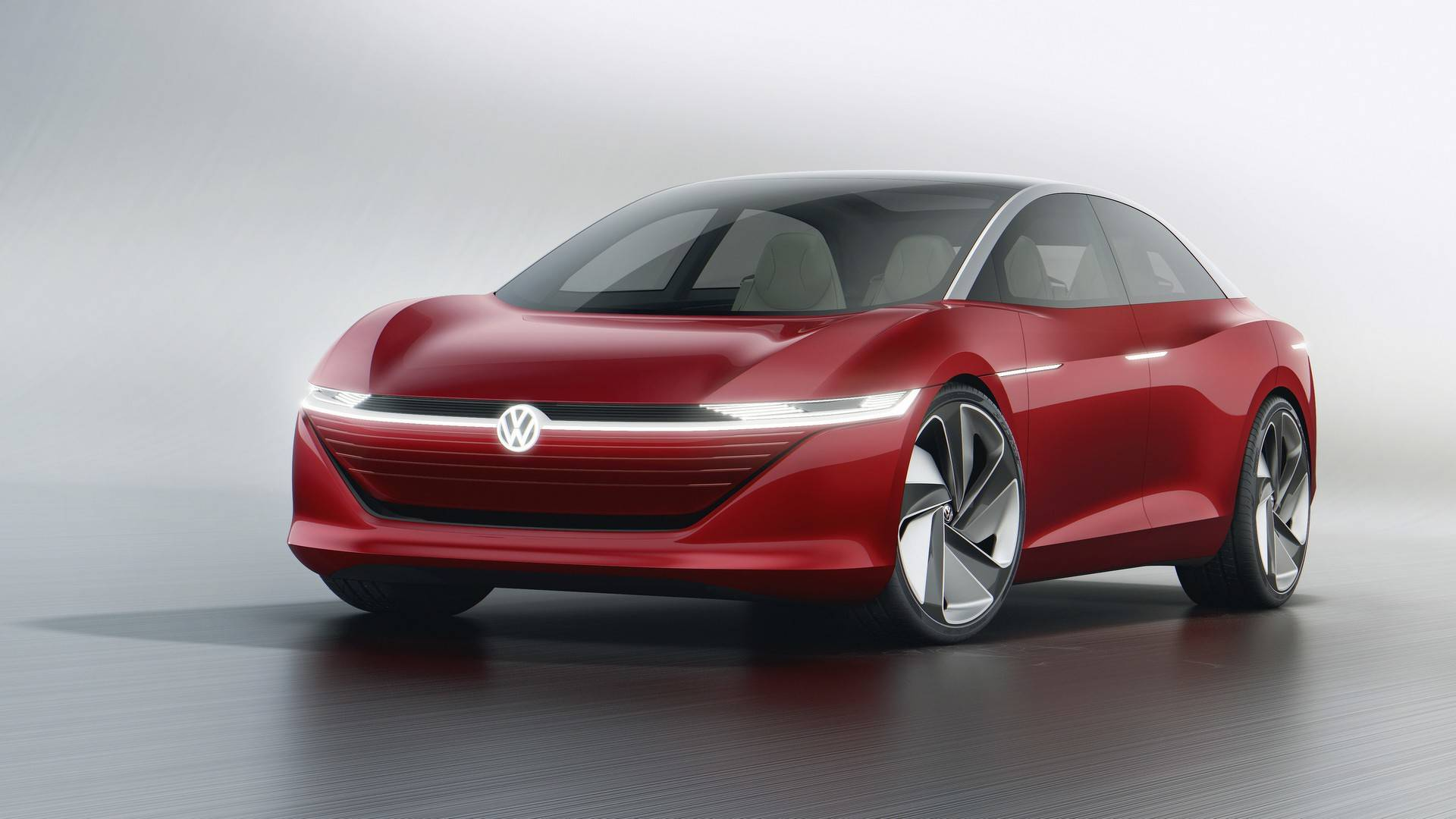 Vwvortex Volkswagen I D Vizzion Concept Unveiled In Geneva A Flagship Electric Sedan That Vw Says Will Hit Production By 2022