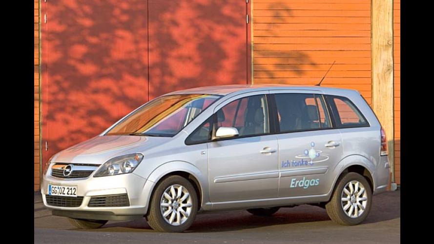 Opel gibt wieder Gas: Neuer Zafira CNG düst nach Frankfurt