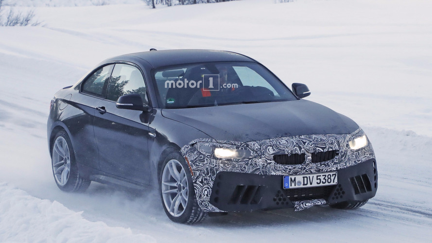BMW M2 2018 facelift photos espion