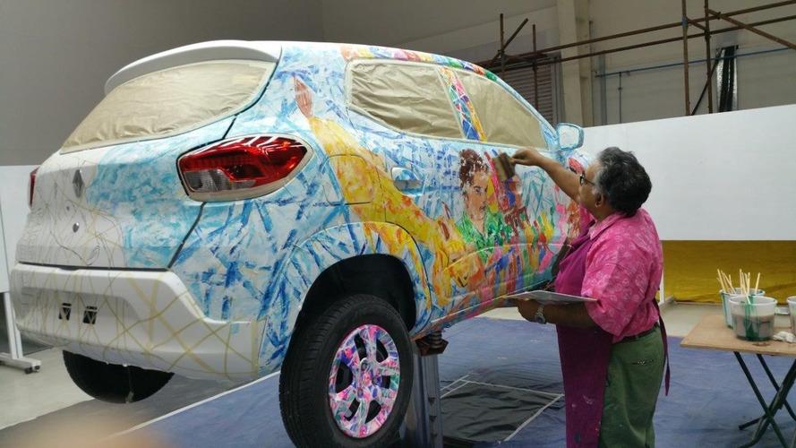 Renault Kwid vira obra de arte nas mãos de artista indiano
