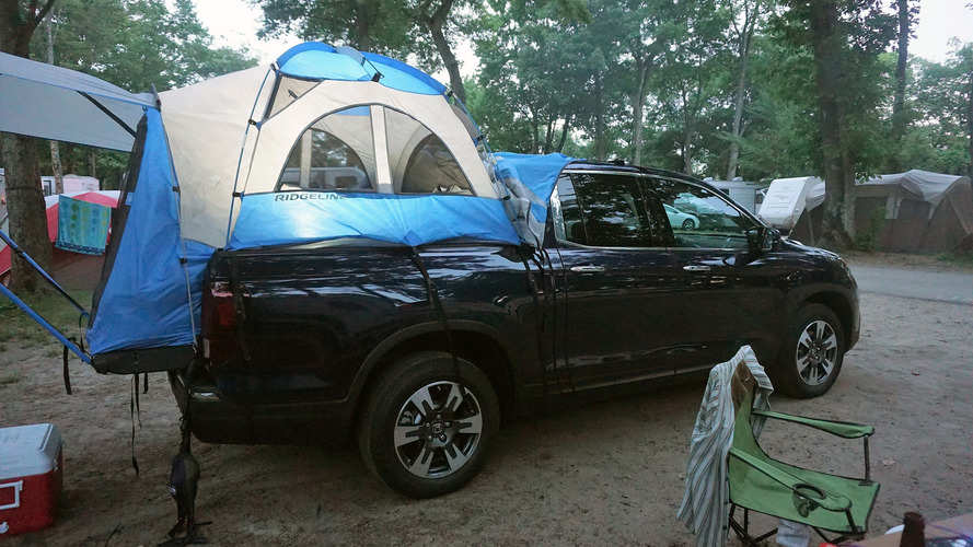 2017 Honda Ridgeline with tent accessory 2017 Honda Ridgeline with tent accessory & Burgess: Out in the woods with the Honda Ridgeline