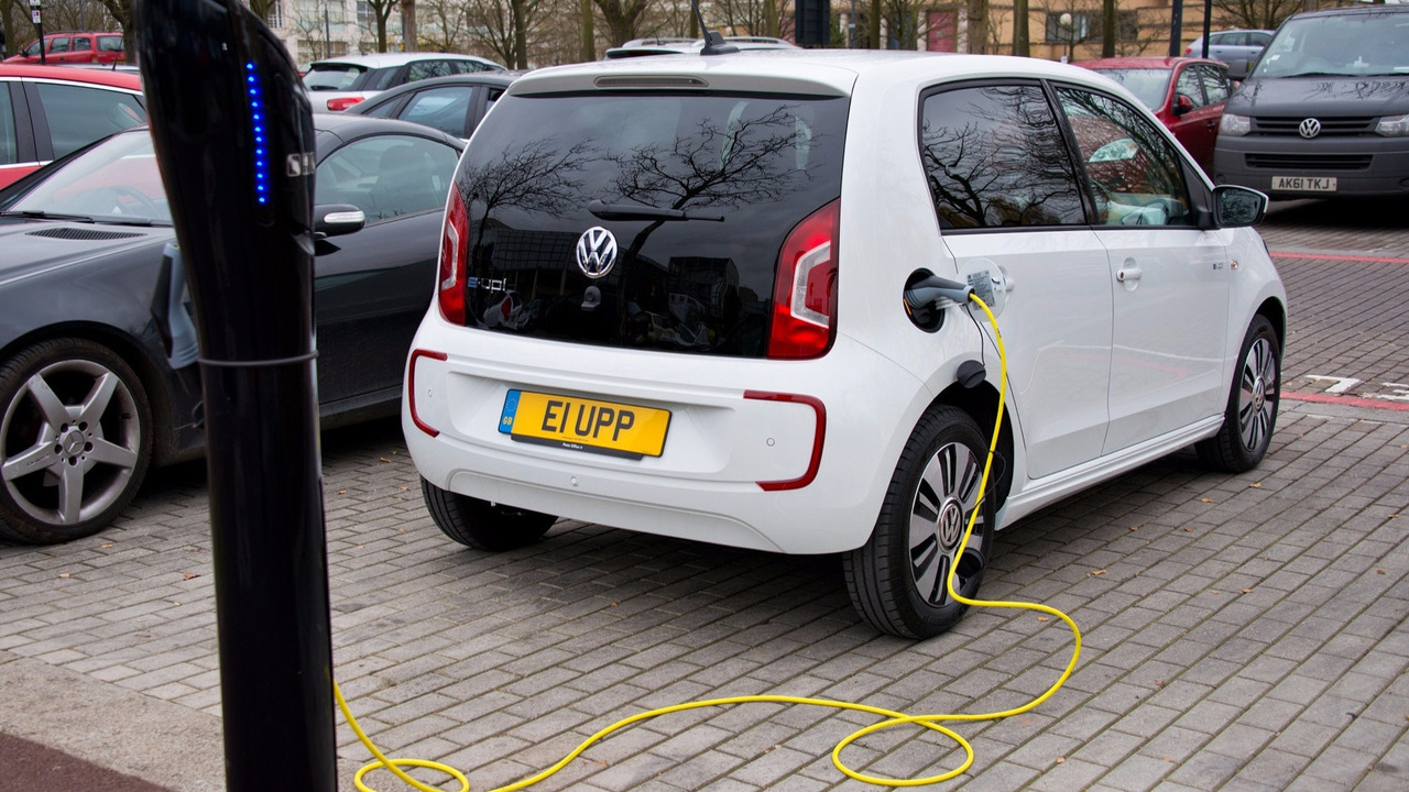 Volkswagen e-up on charge