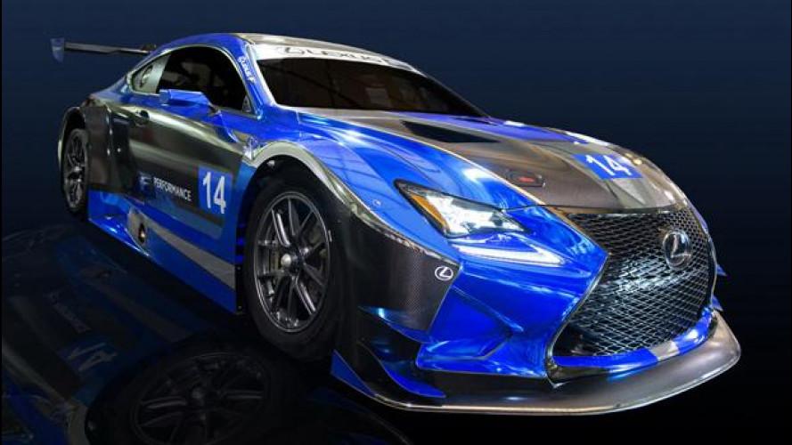 Lexus RC F GT3 pronta a scendere in pista con la F Performance