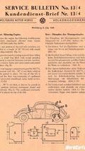 1946 Volkswagen Service Bulletin
