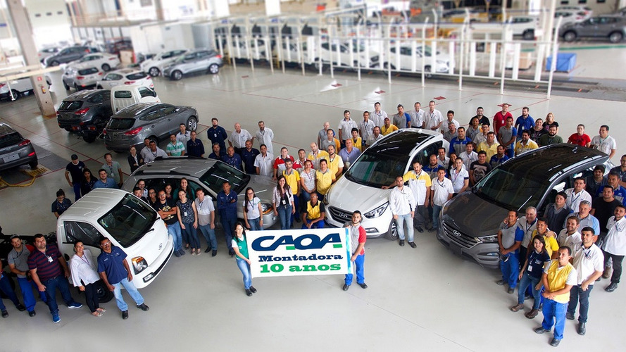 Hyundai-Caoa celebra 10 anos da fábrica em Anápolis (GO)