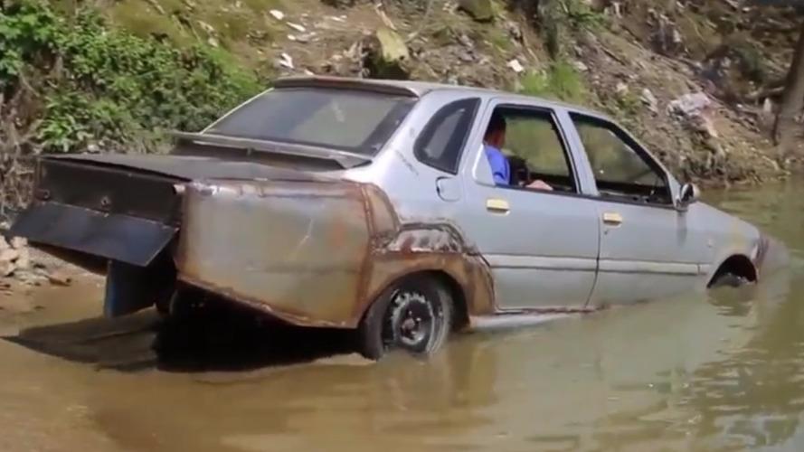 Ce mécanicien chinois crée sa propre voiture amphibie