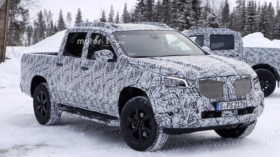 Yeni casus fotoğraflarında Mercedes X Serisinin ön farları ortaya çıktı