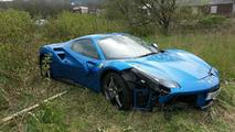 Ferrari 488 Spider abandonnée