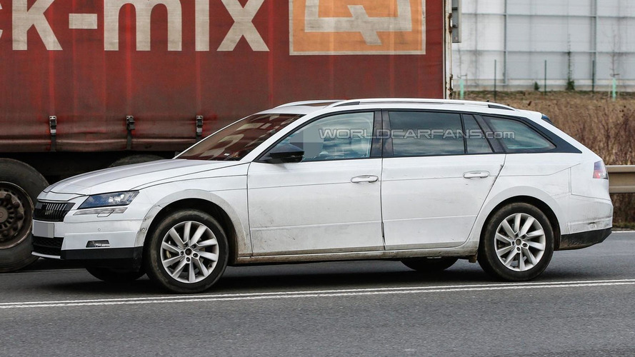 Skoda Superb Combi spied ahead of July reveal